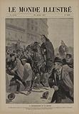 The demonstration on 20 January. Mr Lépine having been surrounded by demonstrators during a scuffle ….