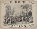 """L'oiseau bleu"" title page of quadrille score by Arban after Charles Lecocq"