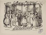 """""""Uncle Célestin"""", title page of quadrille score by Deransart after Edmond Audran"""
