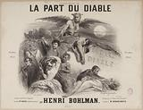 """""""The Devil's Share"""". Title page of quadrille score by Henri Bohlman after Auber."""