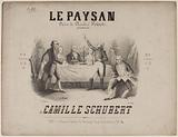 """""""The peasant"""". Title page of quadrille score by Camille Schubert, after Charles Poisot."""