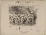 The Tempest of Ambroise Thomas. Opera Ballet. Shiny Quadrille. L Dufour.