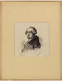 Portrait of Louis XVI and facsimile of Louis XVI's will