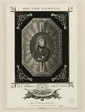 National shield. To the French armies. Buonaparte.