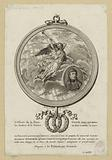 Allegorical medallion with a Fame crowning the portrait of Bonaparte in palm