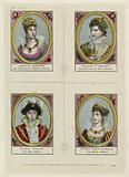 Four individual portraits, but grouped on the same plate, of Napoleon, Joséphine, Eugène de Beauharnais (designated …)