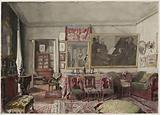 View of Adolphe Jullien's living room in 1894