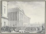 Looting of the Royal Furniture Guard's weapons by the citizenry, current Ministry of the Navy, 2 place de la Concorde, …