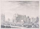 French Revolution: Fête de la Loi and funeral ceremony in honor of JG Simoneau, mayor of Etampes, in front of the …