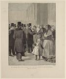 Mr President Carnot visiting the asylums at night. – The women's section at the Palais des Arts-Liberals.