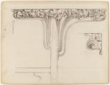 Carved and patinated bronze capital for the interior decor of the Fouquet boutique