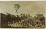 Lunardi in his anchor balloon in England