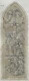 Stained glass project (for Moret?): Crucifixion