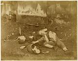 A dead woman and child. Paris Commune, 1871 (staged).
