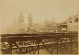 Construction of foreign pavilions for the Universal Exhibition of 1900, quai de la Seine, Paris