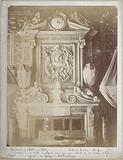 Interior of the Town Hall, Throne Room n°1: City of Paris crest pierced by a bullet on 31 October 1871, poster by …