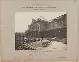View of the works in the departure courtyard of the Gare d'Austerlitz, 13th arrondissement, Paris
