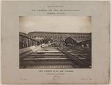 View of the construction of the viaduct leading to the Gare d'Austerlitz, 13th arrondissement, Paris