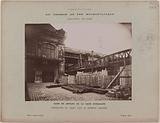 View from the courtyard of the Gare d'Austerlitz of the viaduct works, 13th arrondissement, Paris