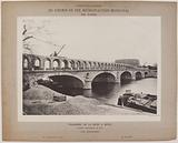 View of the bridge and arcades in Bercy, 12th arrondissement, Paris