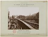 Construction of the Paris municipal metropolitan railway: View of the viaduct at the crossroads of boulevard de la …