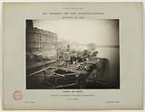 Construction of the Paris municipal Metropolitan railway: sinking of the pile box in the main arm, Passy viaduct, 16th …
