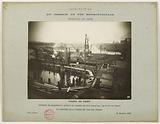 Construction of the Paris municipal Metropolitan railway: enclosure of cofferdams around the pile box, Passy viaduct, …
