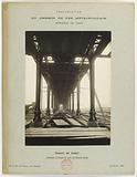 Construction of the Paris municipal Metropolitan railway: upper deck on the main arm, Passy viaduct, 16th …