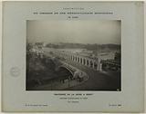 Construction of the Paris municipal metropolitan railway: arcades superimposed on the Bercy bridge, 12th …