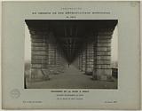 Construction of the Paris municipal metropolitan railway: view below the metal deck of the Pont de Bercy, 12th …