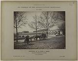 Construction of the Paris municipal metropolitan railroad: overview of the Bercy bridge, 12th arrondissement, Paris