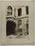 The Red Castle, view of the courtyard, rue Galande, 5th arrondissement, Paris