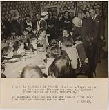 Propaganda photography: Visit of a legionary restaurant by Marshal Pétain