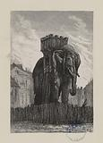 [Les Misérables, Part Four, Book Six, Chapter II] It was an elephant forty feet tall
