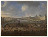 The Pont-Neuf, seen from the entrance to the Place Dauphine, the Quai Malaquais with the College of the Four Nations, …