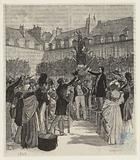 Actions and words, Before exile, Electoral meetings, 1848–1849: Planting of the tree of liberty, place des Vosges