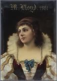 Portrait of Mademoiselle LLoyd, member of the Comédie-Française