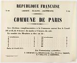 French Republic. N°99 Liberte – Egalite – Fraternite N°99 Commune de Paris.