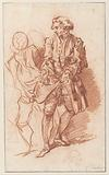 Study for La Flèche Whose Pockets are Being Searched by Harpagon