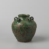 Ovoid jar 'Tradescant' with lotus scrolls in relief