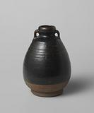 Ovoid jar with two handles