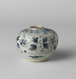 Ovoid jar with floral scrolls