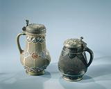 Jug with chip carving and medallions