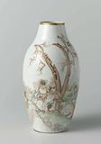 Ovoid vase with the Eight Immortals seated in a landscape