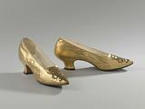 Pair of women's shoes with pointed toe