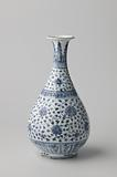 Pear-shaped bottle vase with continuous lotus scrolls and ornamental borders