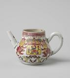Pear-shaped teapot with the arms of the Dutch Republic and the VOC monogram
