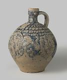 Jug with coats of arms, lions and ornamental borders