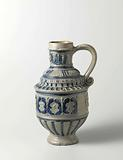 Jug with coats of arms beneath arches