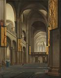 The Nave and Choir of the Mariakerk in Utrecht